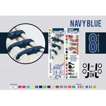 Elastische veter navy blue 8 stuks
