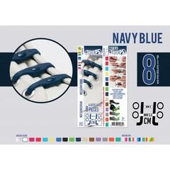 Shoeps Elastische veter navy blue 8 stuks