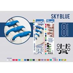Shoeps Elastische veter sky blue 8 stuks