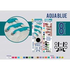 Shoeps Elastische veter aqua blue 8 stuks