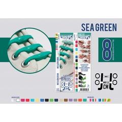 Shoeps Elastische veter sea green 8 stuks