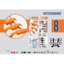 Elastische veter dutch orange 8 stuks