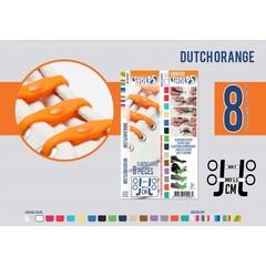Shoeps Elastische veter dutch orange 8 stuks
