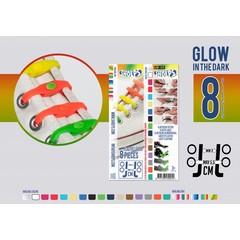 Shoeps Elastische veter glow in the dark 8 stuks