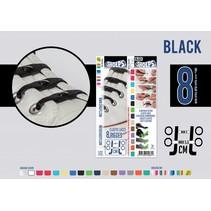 Elastische veter zwart 8 stuks