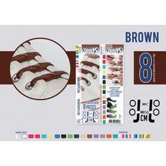 Shoeps Elastische veter bruin 8 stuks