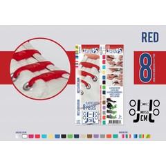 Shoeps Elastische veter rood 8 stuks