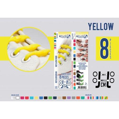 Shoeps Elastische veter geel 8 stuks