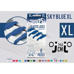Shoeps Elastische veter sky blue 8 stuks XL