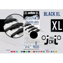 Elastische veter zwart 8 stuks XL
