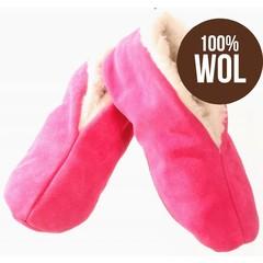 Bernardino Spaanse sloffen 100% wollen voering roze