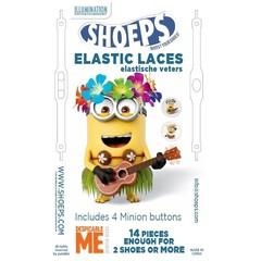 Shoeps Elastische veter MINION WHITE 14 STUKS