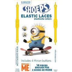 Shoeps Elastische veter MINION YELLOW 14 STUKS
