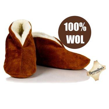 Bernardino Spaanse sloffen 100% wollen voering cognac/camel