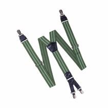 Bretels HENDRIK groen met 2 lichtgroene strepen