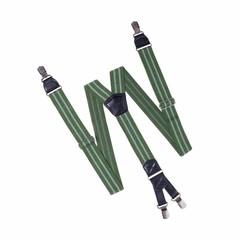 Hendrik Bretels HENDRIK groen met 2 lichtgroene strepen
