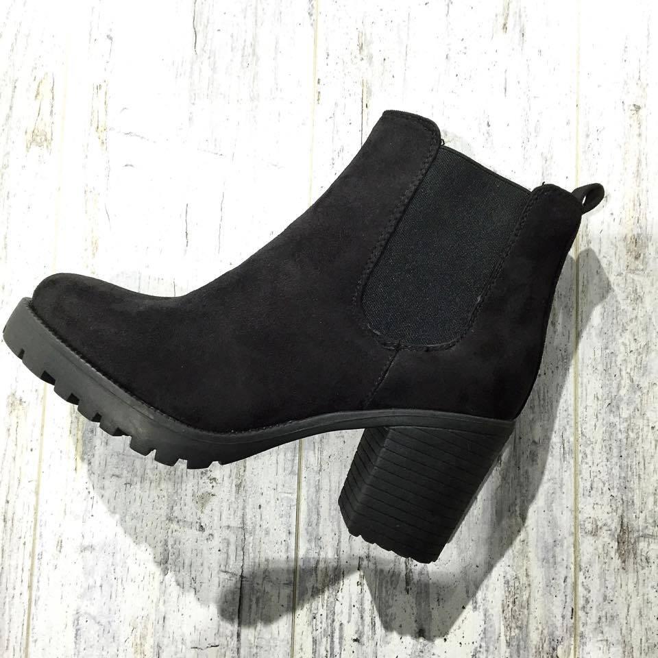 Chelsea-Stiefel aus schwarzem Wildleder