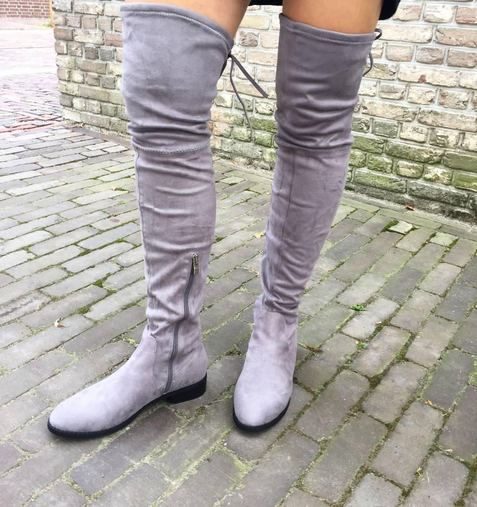 Kniehohe Stiefel GREY