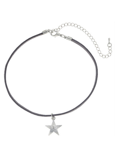 STAR GREY CHOKER