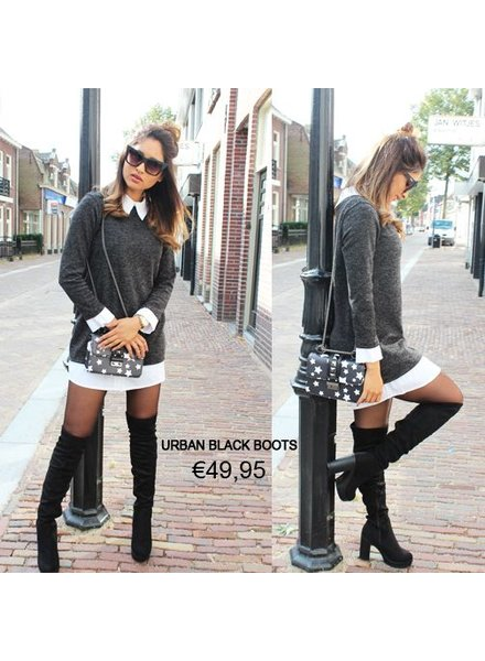 URBAN HIGH KNEE BLACK