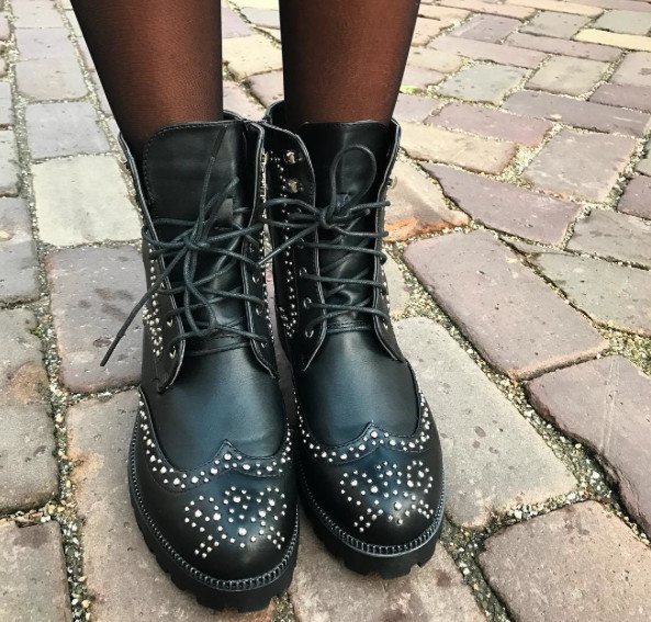 NEW STUDDED BOOTS