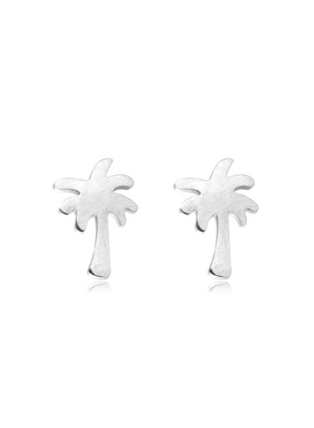 PALMTREE EARRINGS SILVER