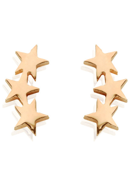 STAR LINE EARRINGS GOLD