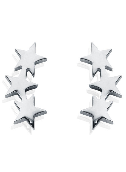 STAR LINE EARRINGS SILVER