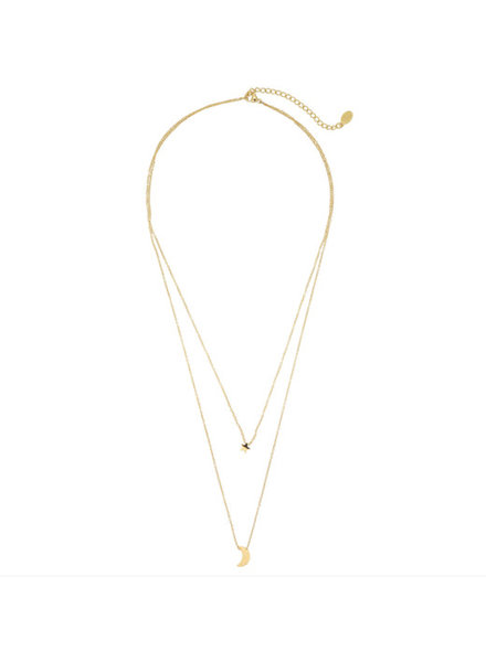 Mond und Stern NECK LOW GOLD