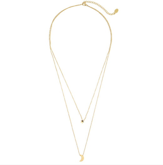 MOON AND STAR NECKLAGE GOLD