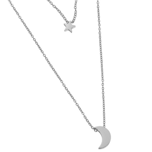 MOON AND STAR NECKLAGE SILVER