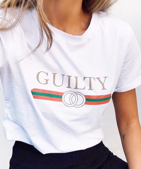 GUILTY WHITE TEE
