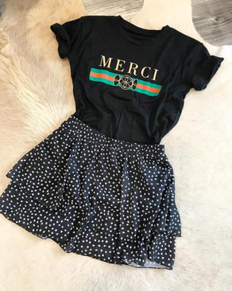 MERCI BLACK TEE