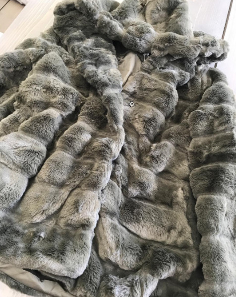 HOODED FURRY JACKET ARMY