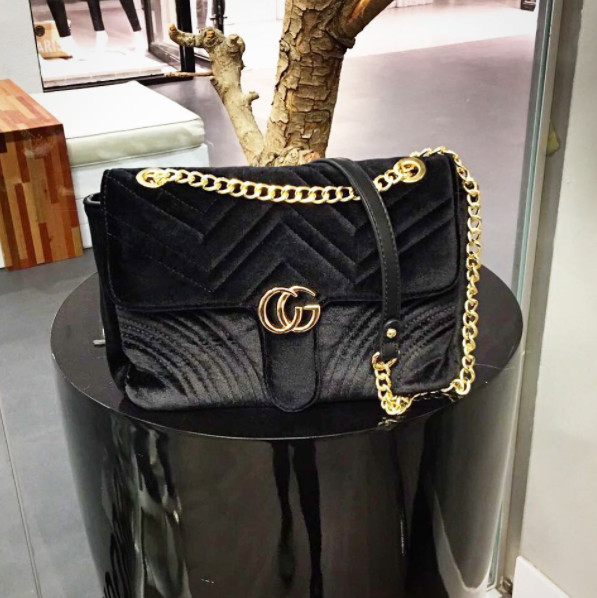 CLASSIC VELVET BLACK BAG