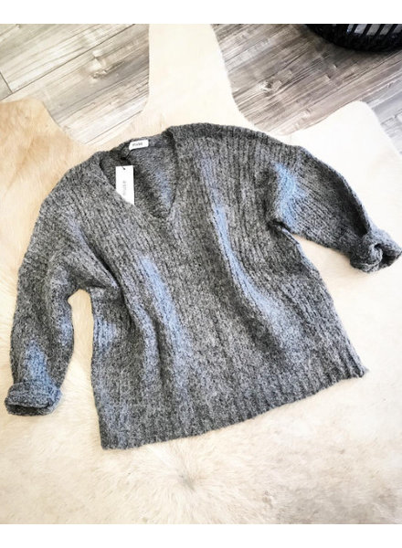 COMFY OVERSIZED SOFT GREY SWEATER