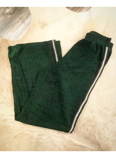 LUREX GLAM PANTS GREEN