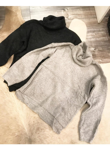 OVERSIZED COLL GREY