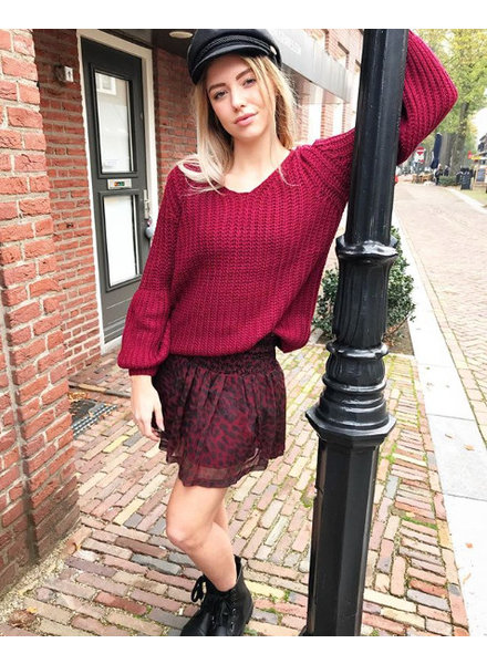 PUFF SWEATER BORDEAUX