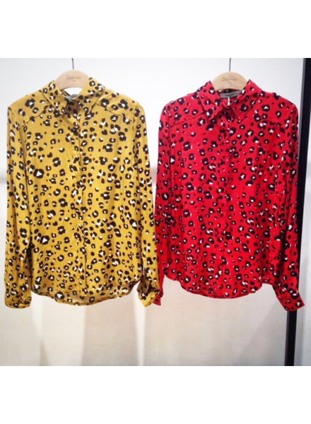 LEO RED BLOUSE