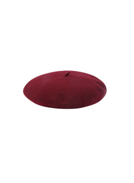 BERET PARISIENNE DARK RED