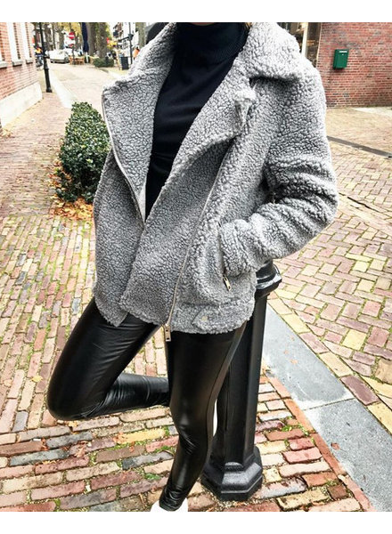 TEDDY GREY COAT