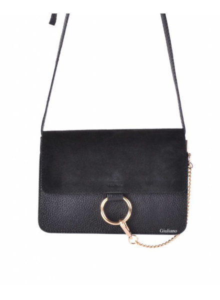 SUEDE BLACK BAG