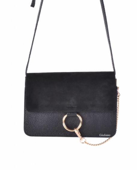 SUEDE BLACK BAG