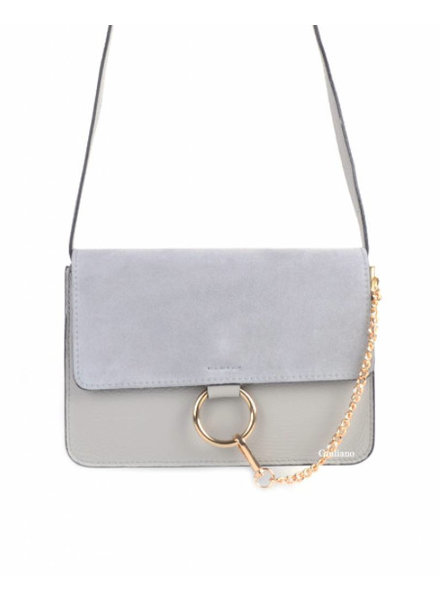 SUEDE GREY BAG