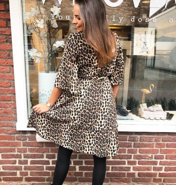 LEOPARD SHORT DRESS