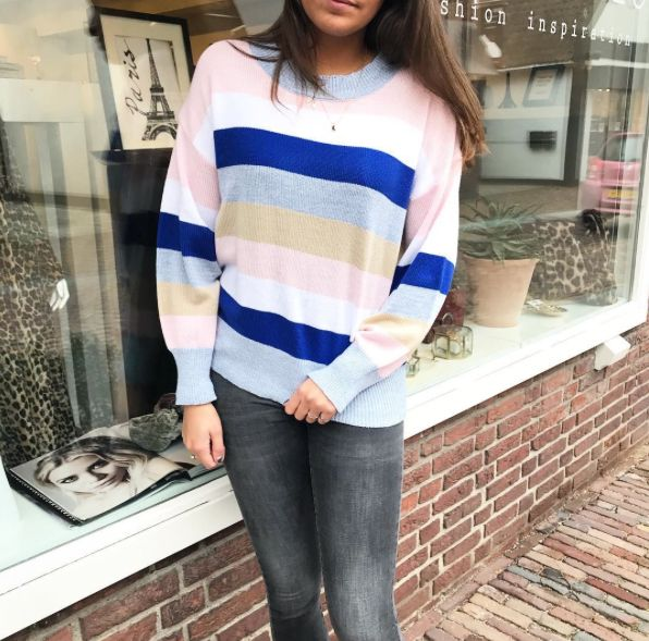SWEET STRIPE SWEATER