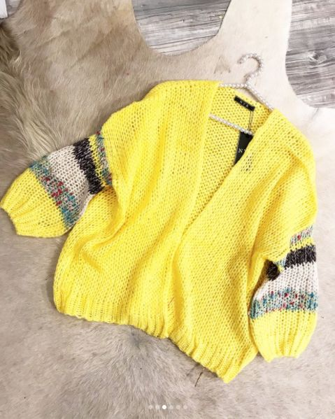 CARDIGAN YELLOW