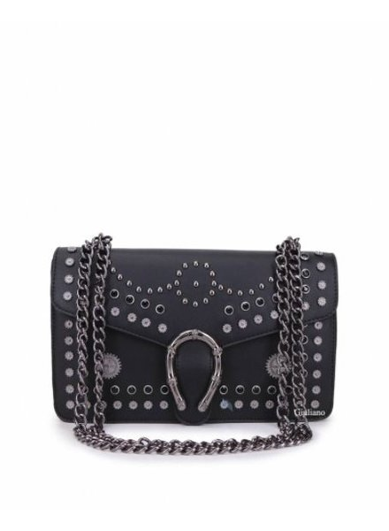 STUDDED BLACK BAG