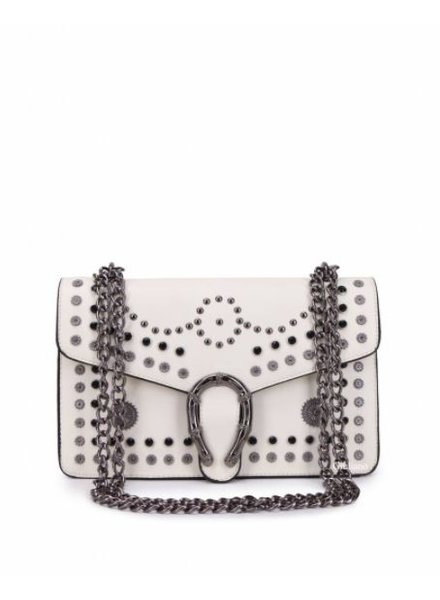 STUDDED WHITE BAG